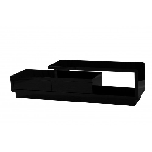Abberly TV Unit Black High Gloss Home Furniture