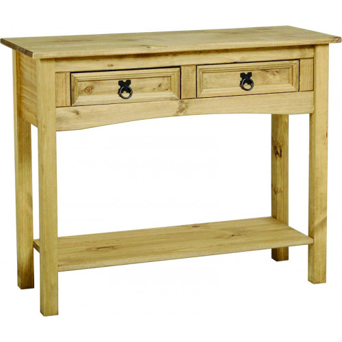 Corona Console Table With 2 Drawer and Shelf (LWP) Home Furniture