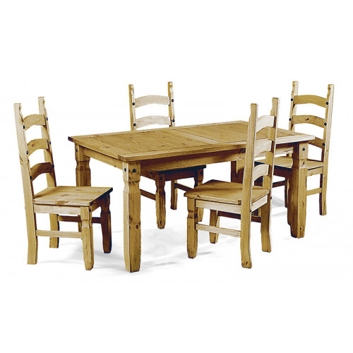 Corona Small Dining Table With 4 Chairs (LWP) Home Furniture