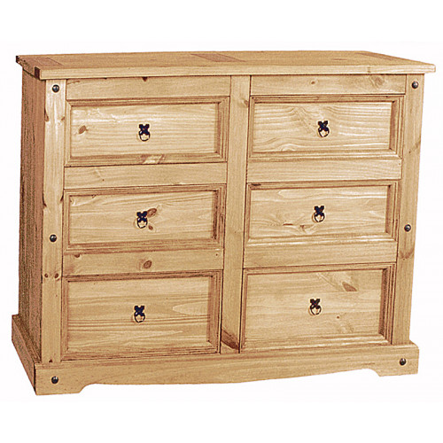 Corona 6 Drawer Wide Drawer Chest (LWP) Home Furniture