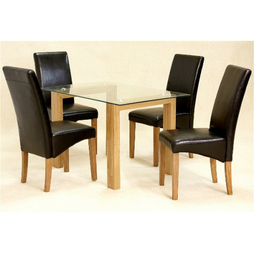Adina Clear Small Dining + 4 Chairs Home Furniture