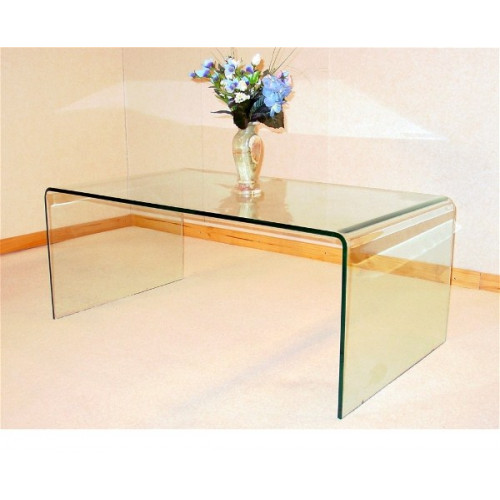 Angola Clear Glass Coffee Table Home Furniture